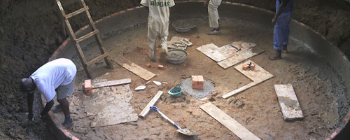 Biogas Digester Construction